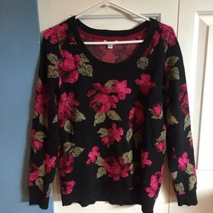 Volcom floral knit sweater